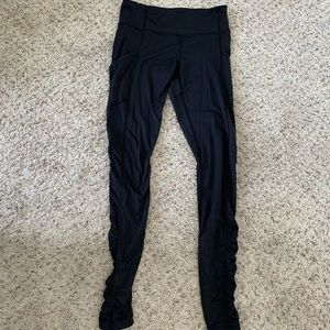 Rouched long leggings